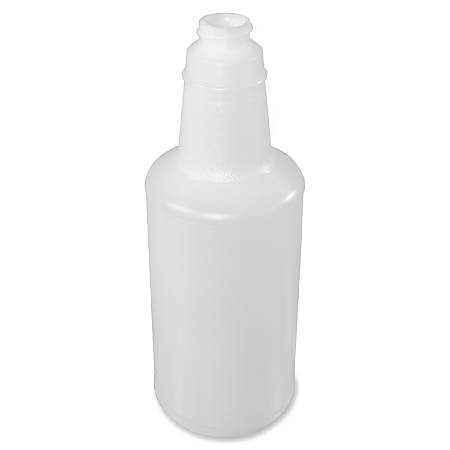 Genuine Joe 32 oz. Plastic Bottle with Graduations - 96 / Carton - Translucent - Plastic