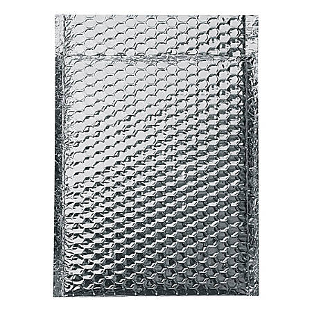 "Office Depot® Brand Cool Shield Bubble Mailers, 10-1/2""H x 10""W x 3/16""D, Silver, Pack Of 100 Mailers"