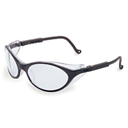 Bandit Eyewear, Clear Lens, Polycarbonate, Anti-Fog, Black Frame