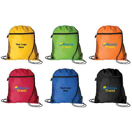 """Mesh Pocket Drawcord Bag, 14""""W x 16 1/2""""H"""