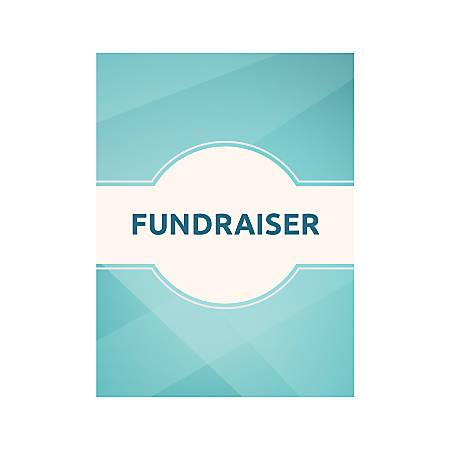 Plastic Sign, Fundraiser Teal, Vertical
