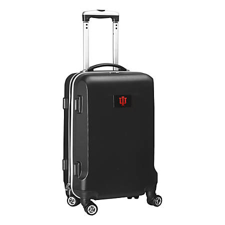 """Denco Sports Luggage Rolling Carry-On Hard Case, 20"""" x 9"""" x 13 1/2"""", Black, Indiana Hoosiers"""