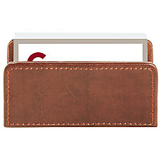 Realspace Brown Leatherette Business Card Holder