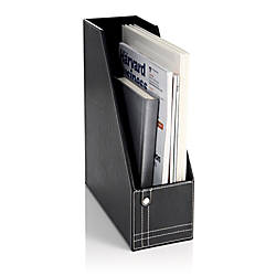 Realspace Black Leatherette Magazine Holder