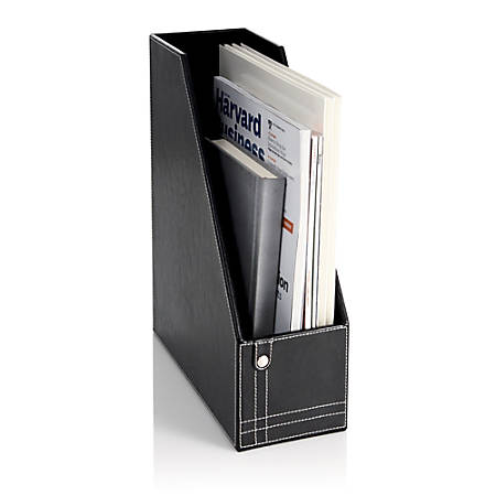 Realspace® Black Leatherette Magazine Holder