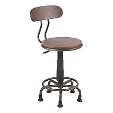 LumiSource Dakota Industrial Task Chair EspressoBlack