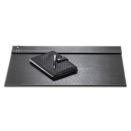 Realspace® Black Leatherette Desk Pad