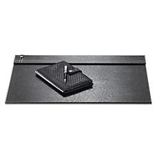 Realspace Black Leatherette Desk Pad