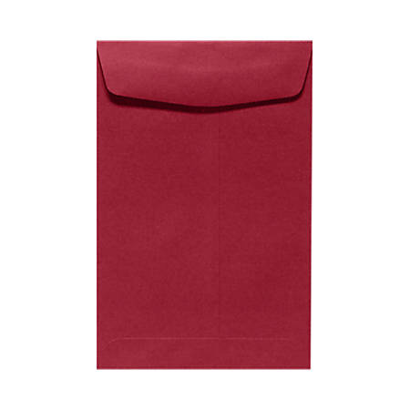 """LUX Open-End Envelopes With Peel & Press Closure, 10"""" x 13"""", Garnet Red, Pack Of 50"""