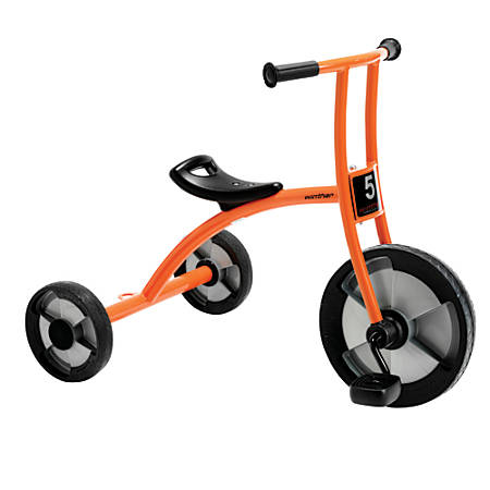 """Winther Circleline Tricycle, Large, 28""""H x 22 7/8""""W x 36 1/4""""D, Orange"""
