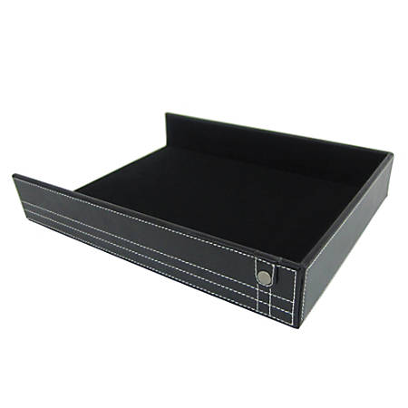 Realspace® Black Leatherette Document Tray
