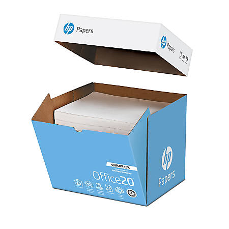 HP Office Quickpack Paper, Letter Size Paper, 20 Lb, Box Of 2,500 Sheets