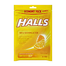Halls Honey Lemon Cough Drops 80