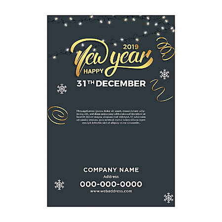 Adhesive Sign Template, Vertical, Light & Snow