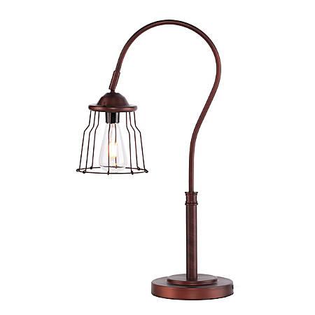 """Southern Enterprises Ogden Table Lamp, 25""""H, Brushed Bronze"""