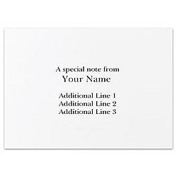 custom printed stationery note cards folded mouse over to zoom - Custom Folded Note Cards