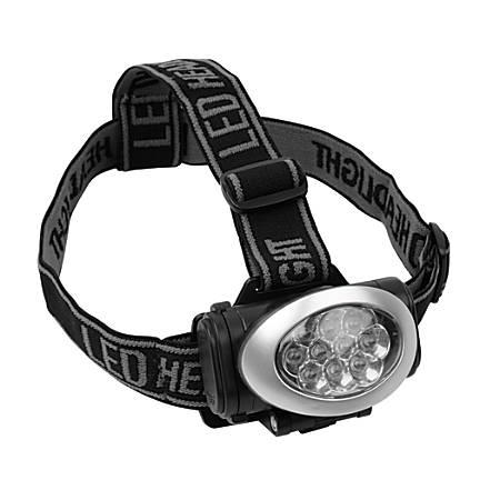 Office Depot® Brand 10-LED Headlamp, Silver