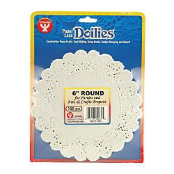 Hygloss Round Doilies 6 White 100