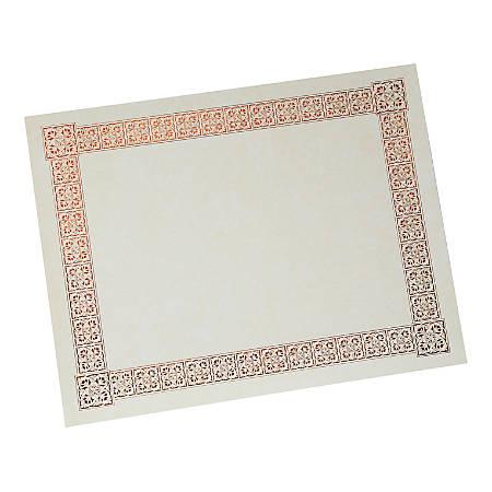 "Gartner Studios Certificates, 8 1/2"" x 10 7/8"", Copper, Pack Of 15"