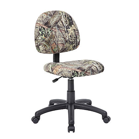 Boss Office Products Deluxe Posture Task Chair, Camouflage