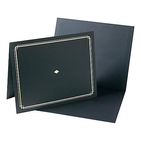 "Gartner Studios Certificate Holders, 9 1/2"" x 12"", Black, Pack Of 6"