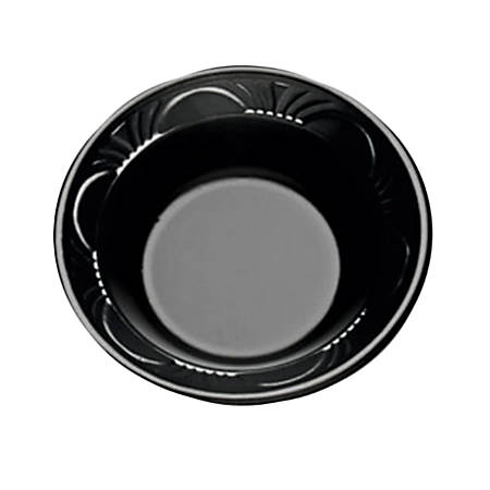 High-Impact Polystyrene Bowls, 12 Oz, Black, Case Of 1,000 Bowls