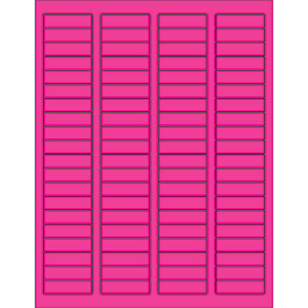 "Office Depot® Brand Labels, LL170PK, Rectangle, 1 3/4"" x 1/2"", Fluorescent Pink, Case Of 8,000"