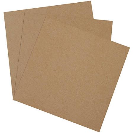 "Office Depot® Brand Heavy-Duty Chipboard Pads, 12"" x 12"", 100% Recycled, Kraft, Case Of 490"