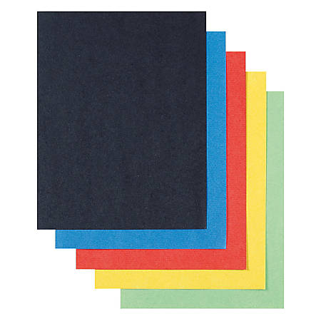 """Pacon® Super Value Poster Boards, 22"""" x 28"""", 100% Recycled, Assorted Colors, Box Of 50 Boards"""