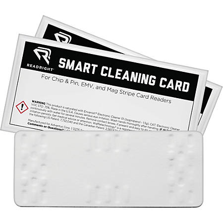 Read Right Smart Cleaning Card - For Multipurpose - 10 / Pack - White