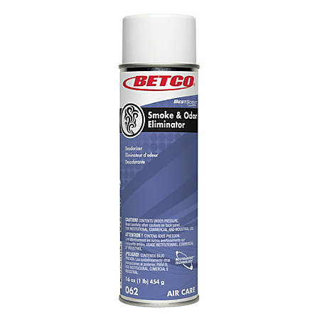 Betco® BestScent™ Smoke And Odor Eliminator Air Freshener, Spring Renewal, 16 Oz, Pack Of 12