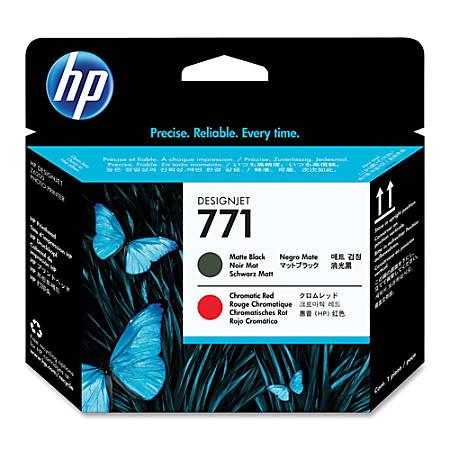 HP 771, High-Yield Matte Black/Chromatic Red Printhead (CE017A)