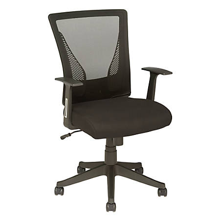 Brenton Studio® Radley Mid-Back Task Chair, Black