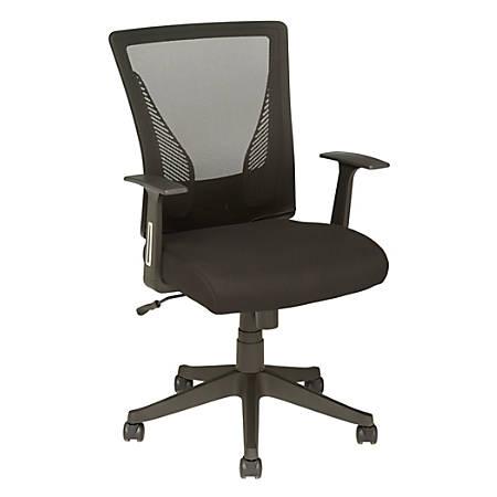 Brenton Studio® Radley Mid-Back Task Chair, Black