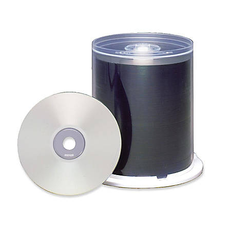 Maxell CD Recordable Media - CD-R - 48x - 700 MB - 100 Pack Spindle - Bulk