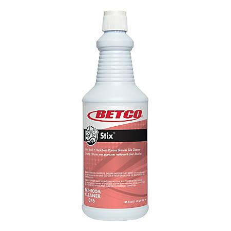 Betco® Stix™ Bathroom Cleaner, Cherry-Almond Scent, 1-Quart, Pack Of 12