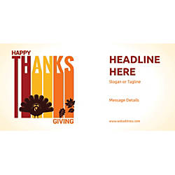 Custom Horizontal Banner Happy Thanksgiving