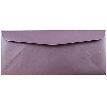 """JAM Paper® Business Booklet Envelopes, #10, 4 1/8"""" x 9 1/2"""", Ruby Purple, Pack Of 25"""