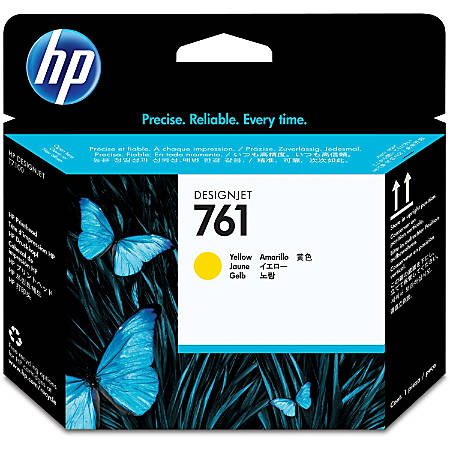 HP 761 Original Printhead - Single Pack - Inkjet - Yellow - 1 Each