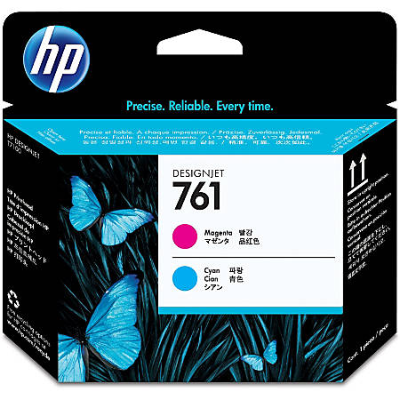 HP 761 Original Printhead - Single Pack - Inkjet - Cyan, Cyan - 1 Each