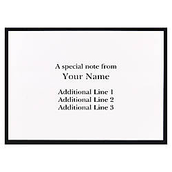 Custom Printed Stationery Note Cards Black