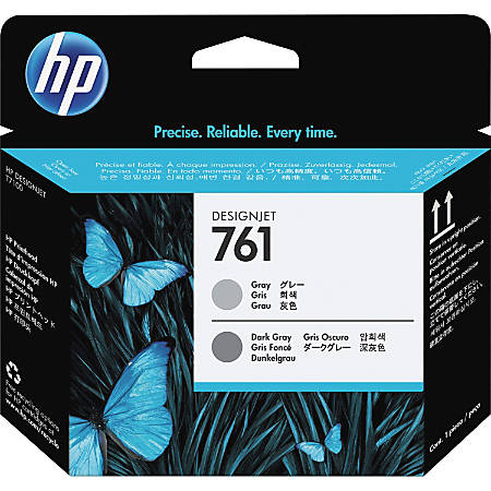 HP 761 Original Printhead - Single Pack - Inkjet - Gray, Dark Gray - 1 Each