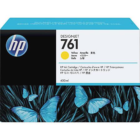 HP 761 Original Ink Cartridge - Single Pack - Inkjet - Yellow - 1 Each