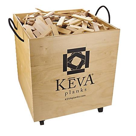 KEVA Maple 1,000-Plank Set With Wooden Bin