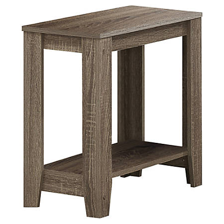 """Monarch Specialties Stella Accent Table, 22""""H x 23-3/4""""W x 11-3/4""""D, Dark Taupe"""