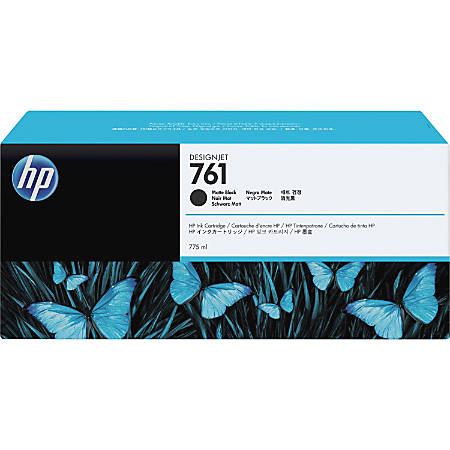 HP 761 Original Ink Cartridge - Single Pack - Inkjet - Matte Black - 1 Each