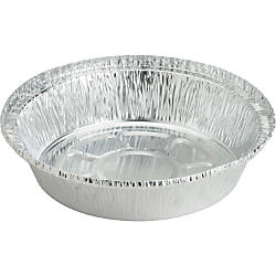 Genuine Joe Round Aluminum Food Container