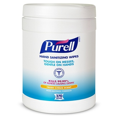 Purell® Sanitizing Wipes, Canister Of 270 Wipes Item # 750397