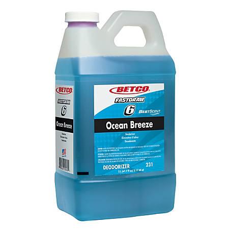 Betco BestScent Air Freshener, Ocean Breeze, 2 Liter, Case Of 4 Bottles