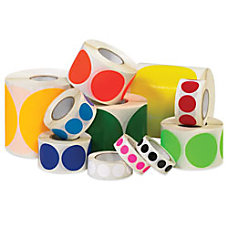 Removable Round Color Inventory Labels DL610A